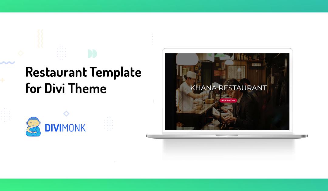 Restaurant Template for Divi Theme