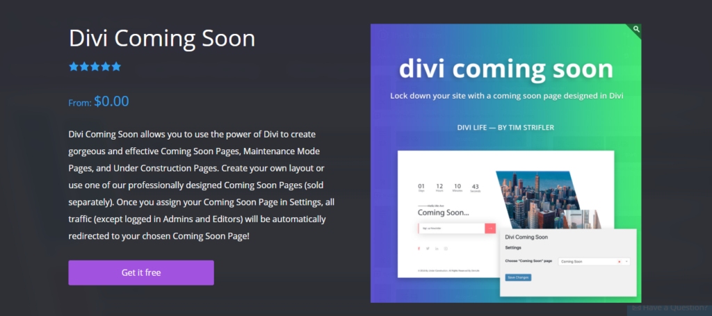Divi Coming Soon Image