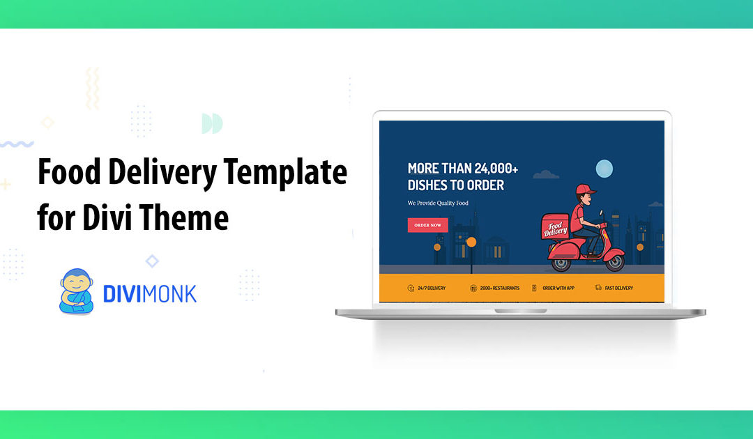 Build a creative website with Divi food delivery template