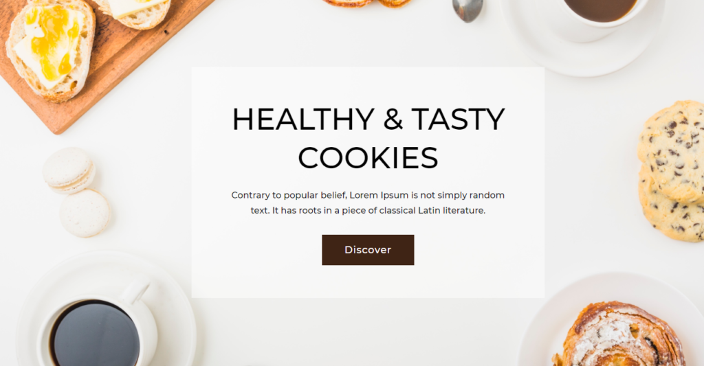 Hero Section Divi Bakery Template
