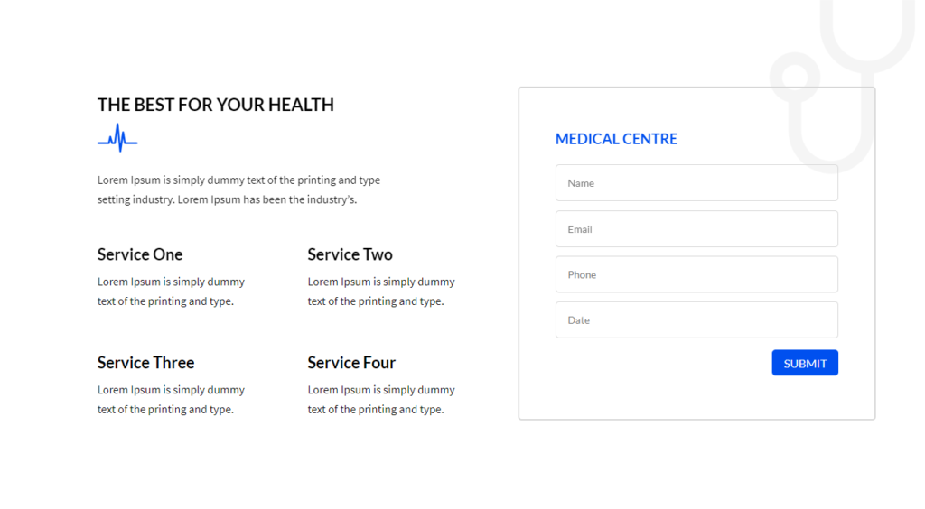 Services Section Divi Medical Template