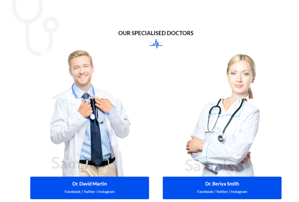 Team Section Divi Medical Template