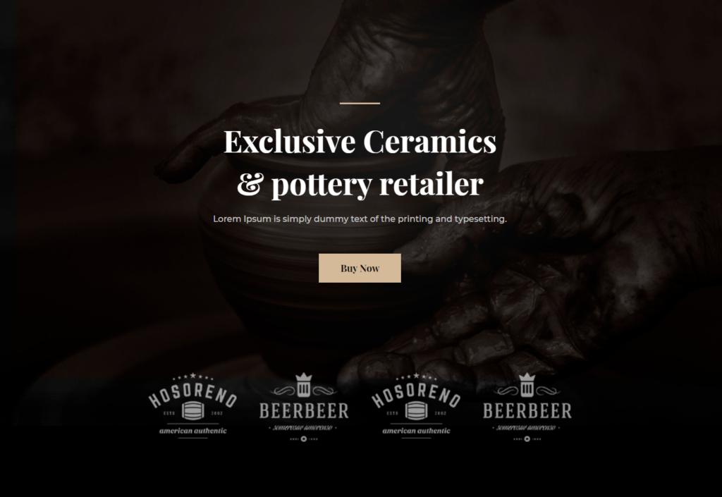 Divi Template for Ceramics & Pottery Business